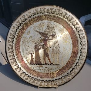 Egyptians 100% copper decorative plate